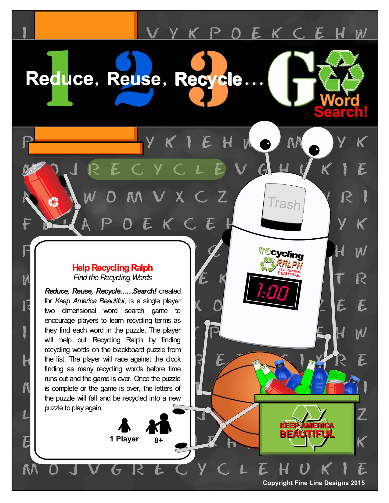 Recycling Ralph Word Search Sell Sheet Image