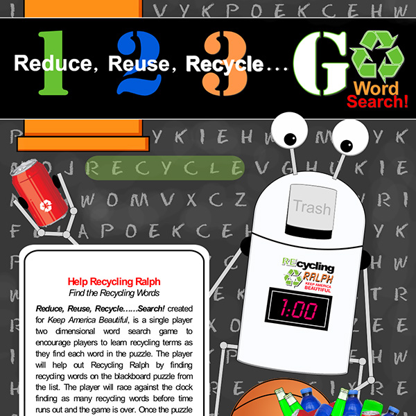 Recycling Ralph Word Game Image